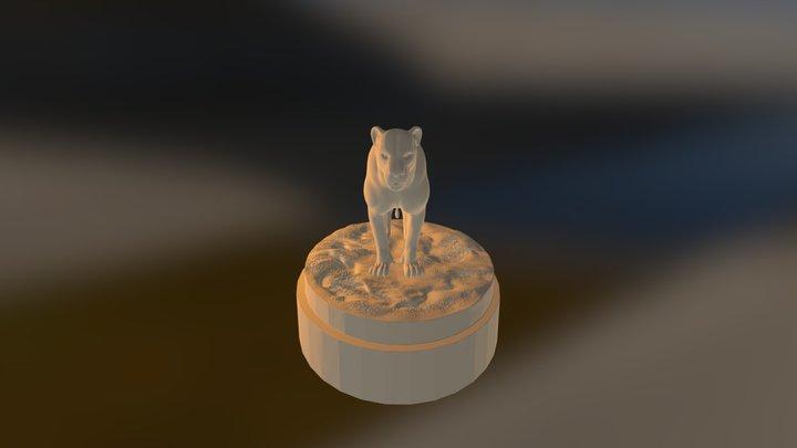 Zbrush Sculpt - Animal Study - Lioness 3D Model