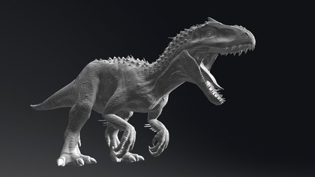 Jurassic World Indominus Rex Low Poly test 3D Model