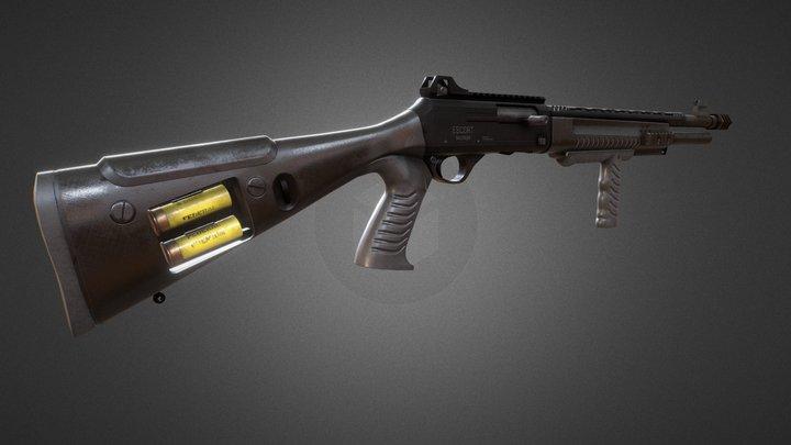 Low poly shotgun (Escort Gladius MPA20) 3D Model
