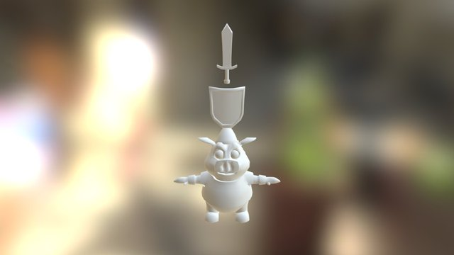 Pawn WIP character 3D Model