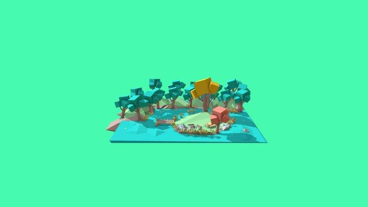 Camp 3D Model