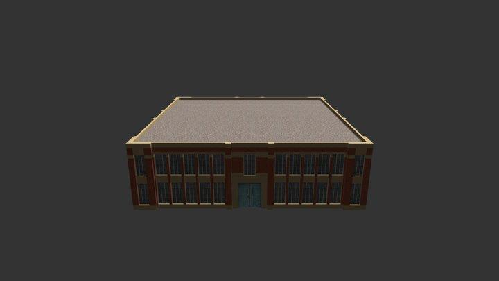 Factory Building 06 3D Model