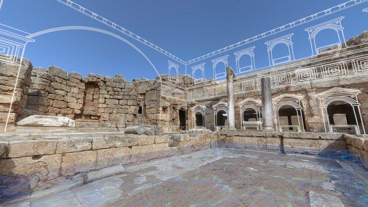 Peirene Fountain, Corinth - Greece 3D Model