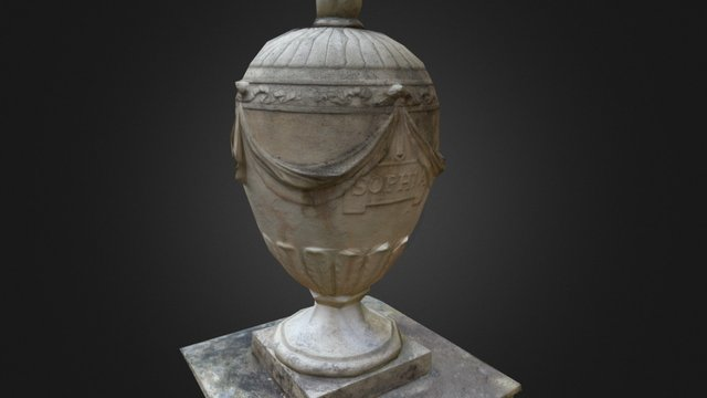 The Urn - Mount Edgcumbe - Sophia - 1806 3D Model