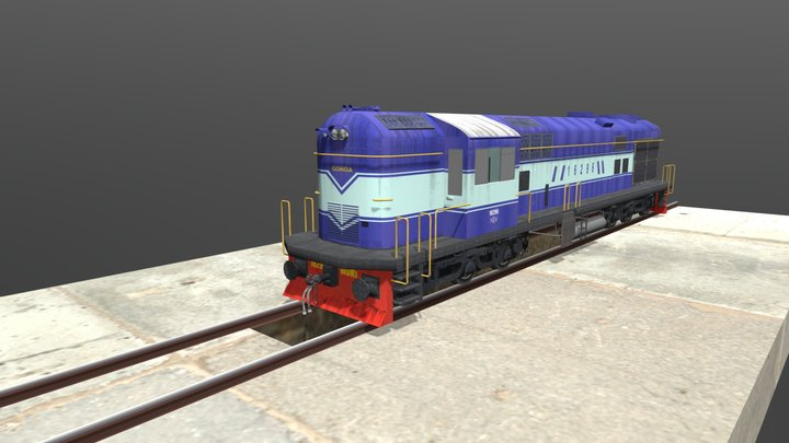 WDM_03_Loco 3D Model