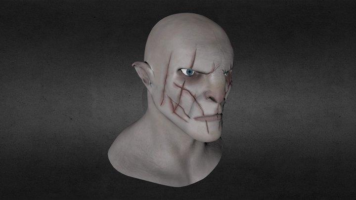 Azog The Defiler Bust 3D Model