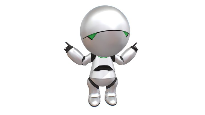 Marvin The Paranoid Android 3D Model