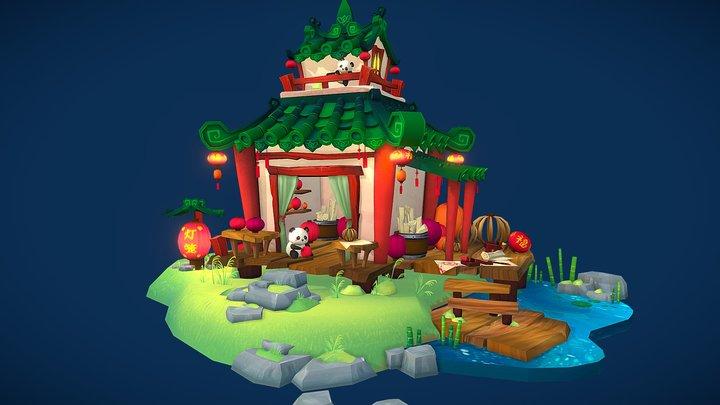 Chinese Lantern Shop 3D Model