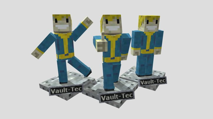 Minecraft bobblehead figures 3D Model
