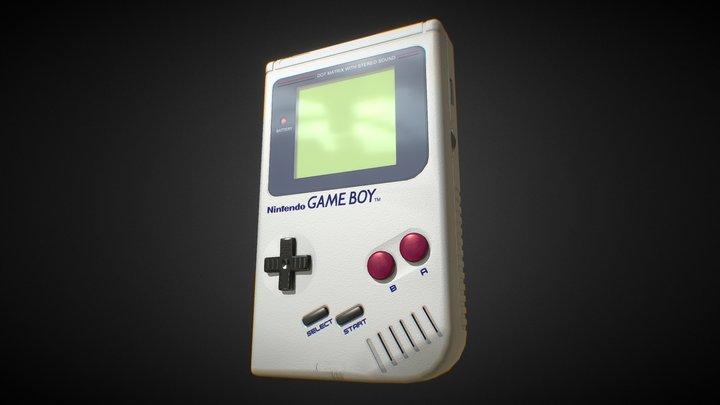 1989 - Nintendo Game Boy handheld console 3D Model