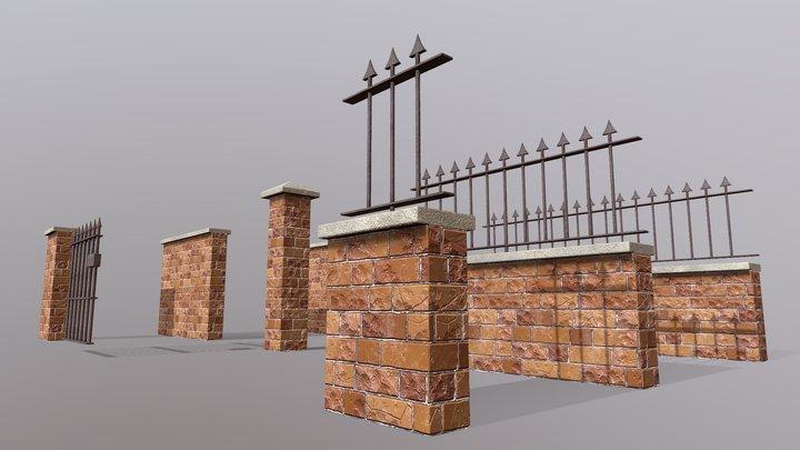 Brick Wall Pack PBR - Modular - Version 2 3D Model
