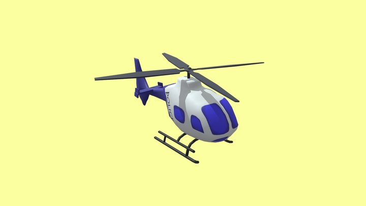 helicopter low-poly 3D Model