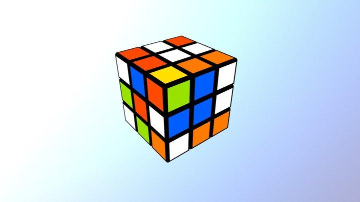 Rubik's Cube - 4.22 seconds by Feliks Zemdegs 3D Model