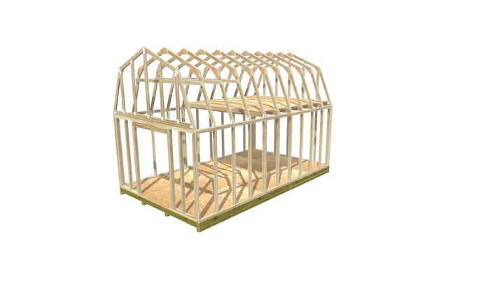 12x20 Barn Shed Framing 3D Model