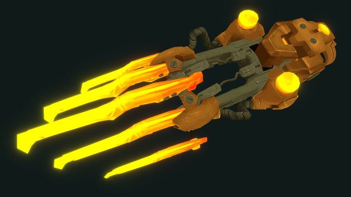 Wildstar Stalker Claws (Painted) 3D Model