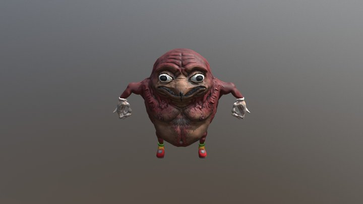 Ancient Ugandan Knuckles 3D Model