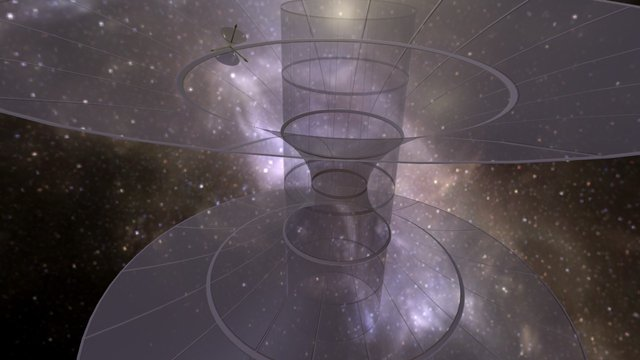 Trip through a wormhole 3D Model