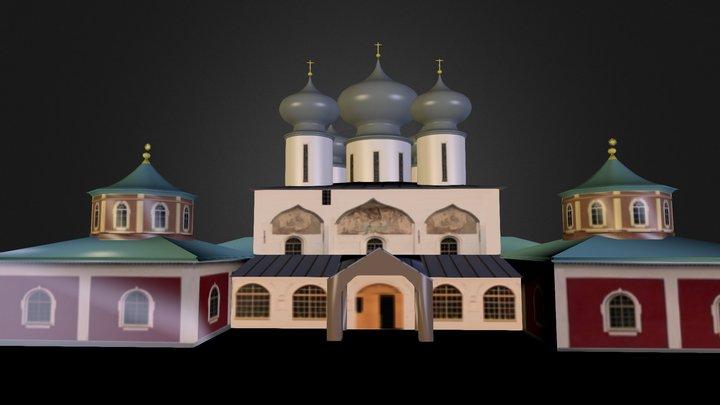 Тихвинский мужской монастырь  3D Model