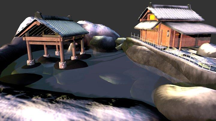 Winter Hot Springs 3D Model