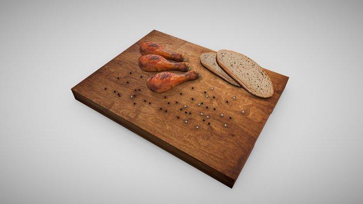 Delicate Chicken Meat - Meat 3D Model