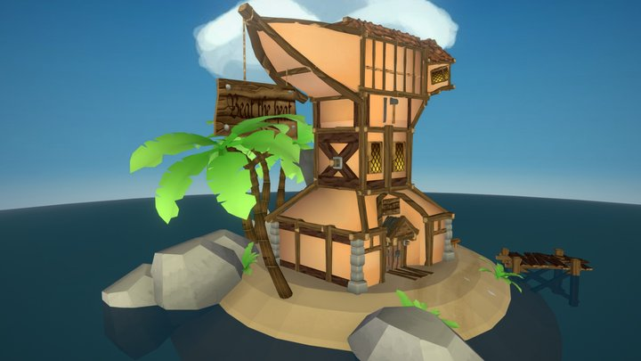 Seafarer's Paradise Beat the Heat Blacksmith 3D Model