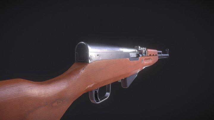 SKS Rifle 3D Model