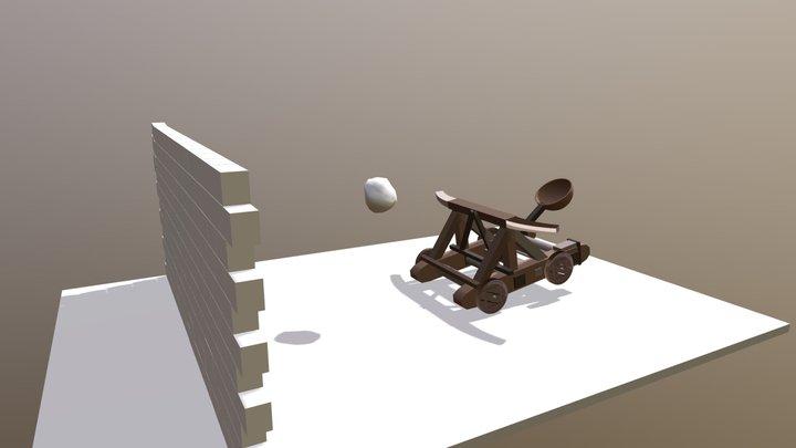 Catapulta // Catapult 3D Model