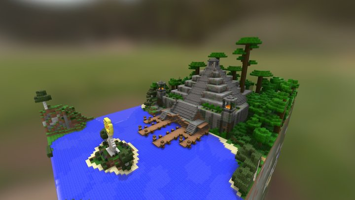Jungle Temple Pyramid 3D Model