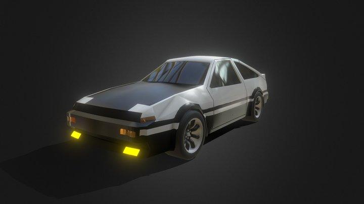 Lowpoly AE86 3D Model