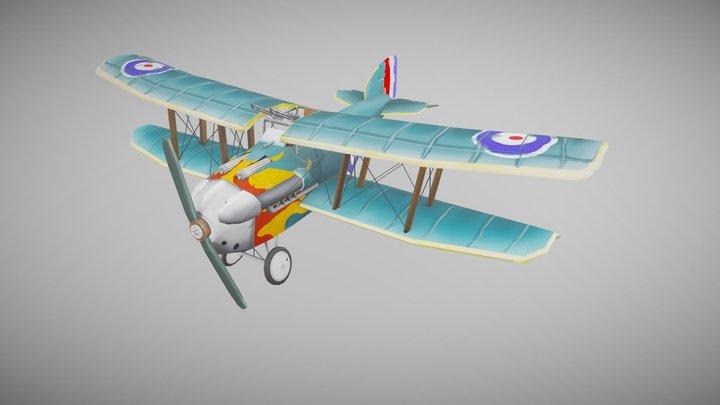 Stylized Sopwith Dolphin 3D Model