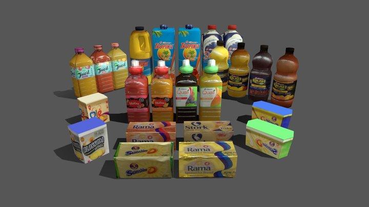 Shop Pack Fridges Standing- Sketchfab 3D Model