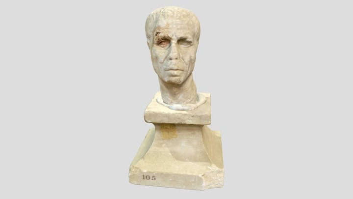 ANMichaelis.190 - Roman Marble Bust 3D Model