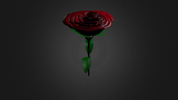 Flor Rosa Dos 3D Model