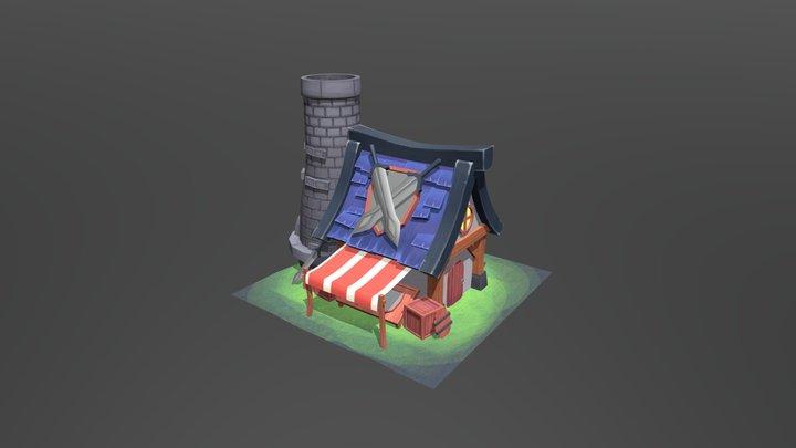 Stylized House (Shop) 3D Model