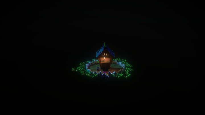 Cute House 3D Model