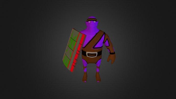 goblin with shield 3D Model