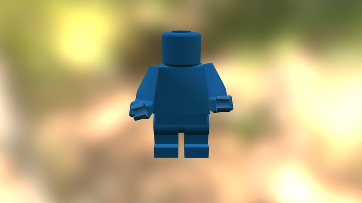 Lego captain America Without Shield 3D Model
