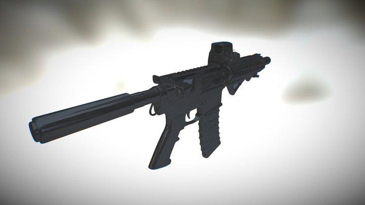 AR15 SBR  3D Model