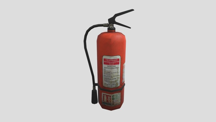 Fire Extinguisher 01 3D Model