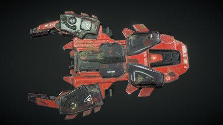 FTL Mantis Cruiser 3D Model