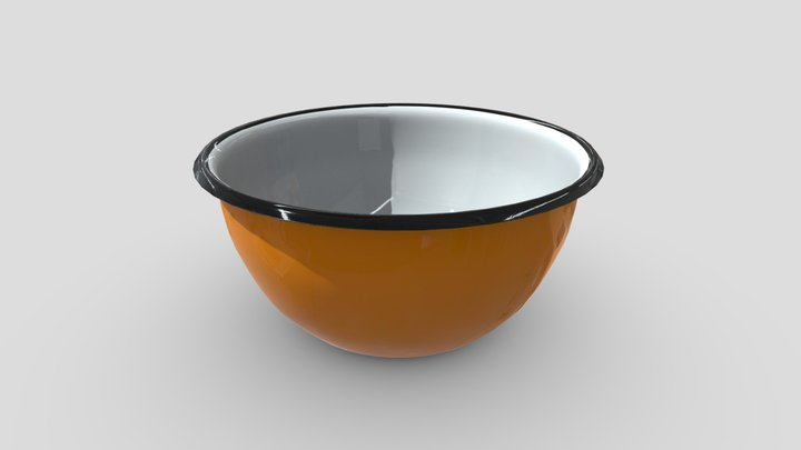 Enamel Bowl 2 3D Model