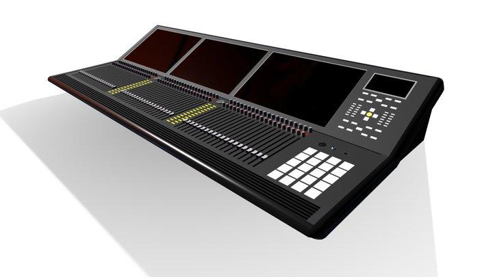 Broadcast Audio Mixer 3D Model