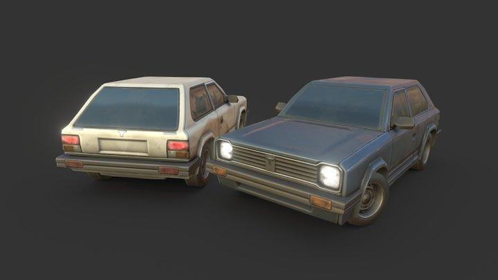 """Hatchback """"Civil"""" 3D Model"""