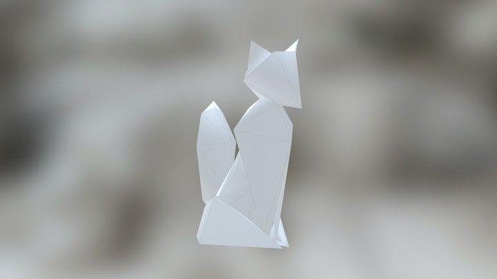 Origami Fox 3D Model