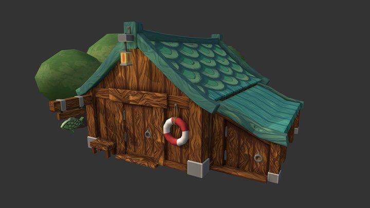 Environment Assessment (Beach Hut) 3D Model