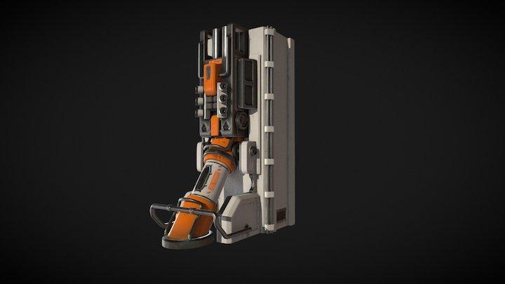 ScifiPillar 3D Model
