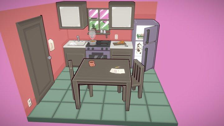 Carrot Stew Kitchen 3D Model