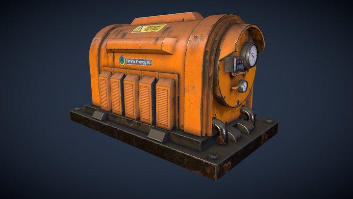 Industrial Electrical Generator 3D Model