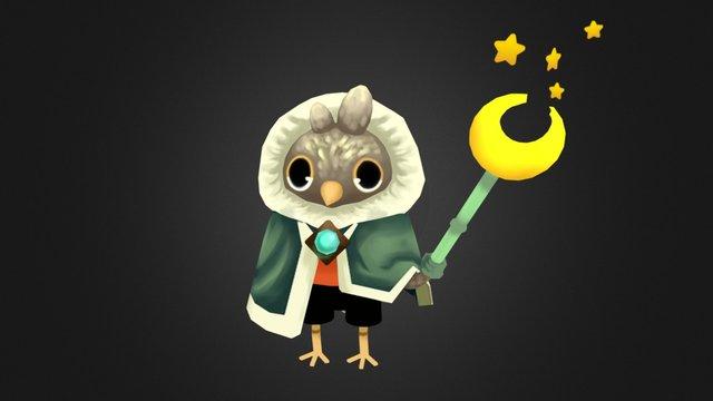 Owl Mage Friend 3D Model