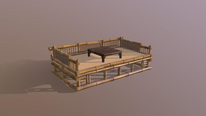 bamboo bed - 竹榻 3D Model